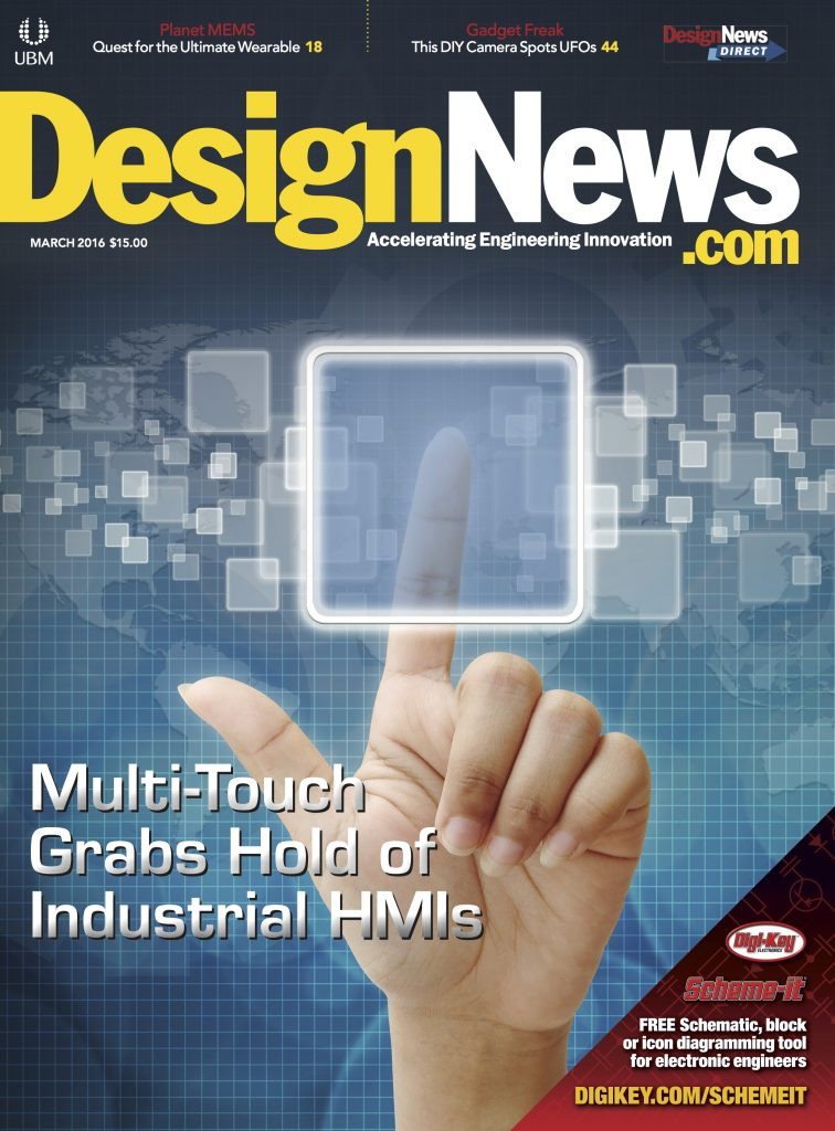 Design News March 2016 COVER