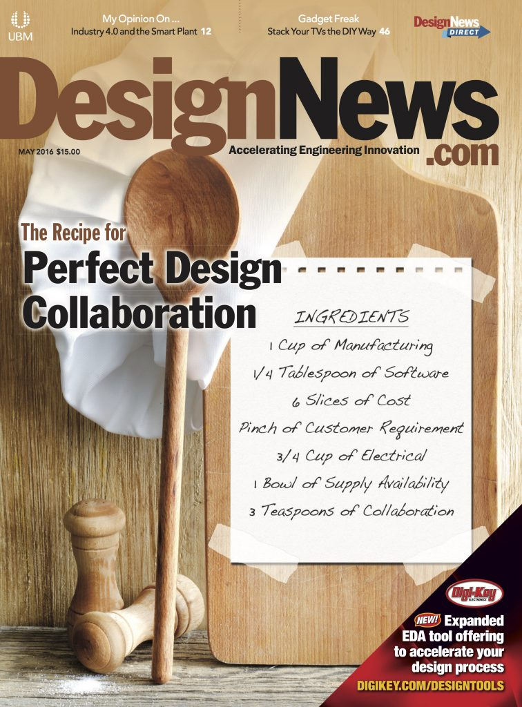 Design News May 2016 Cover