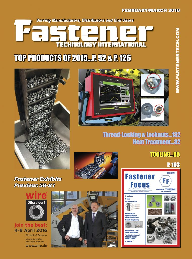 Fastener Technology International February March 2016 COVER