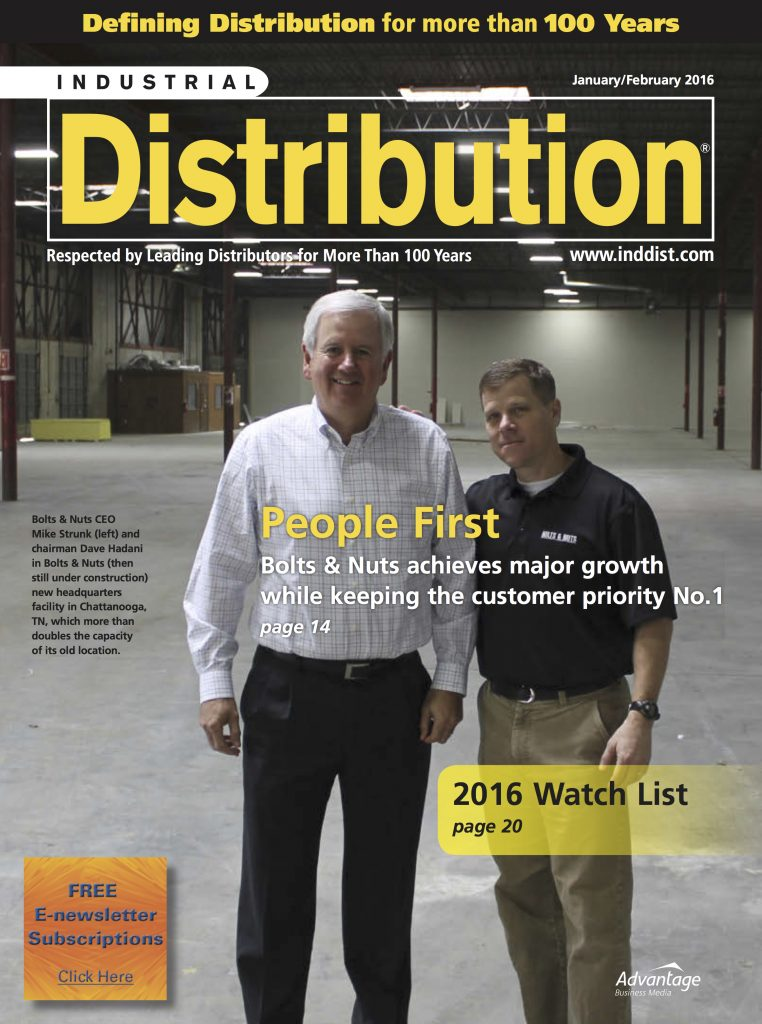 Industrial DistributionJanuary February2016 COVER