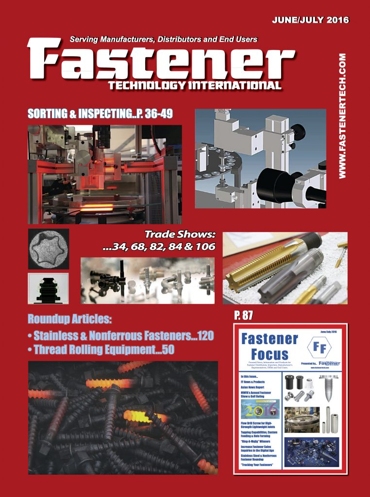 fastener technology international june july 2016 cover