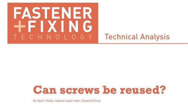 Can screws be reused?
