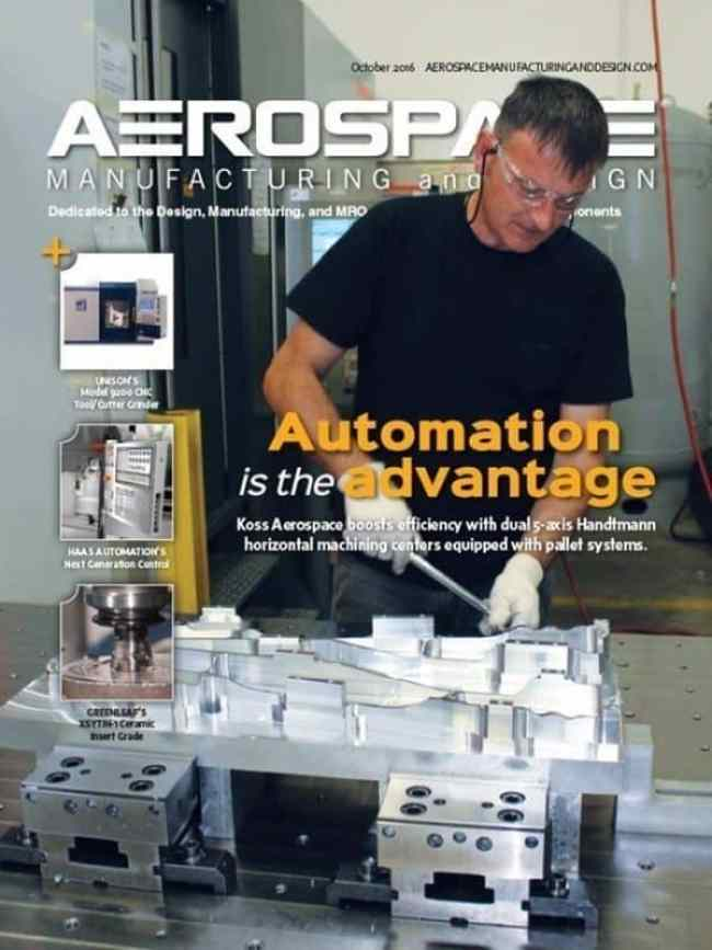 Aerospace Manufacturing and Design, October/November 2016