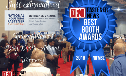 Fastener News Desk: 2016 Fastener Show Best Booth Awards