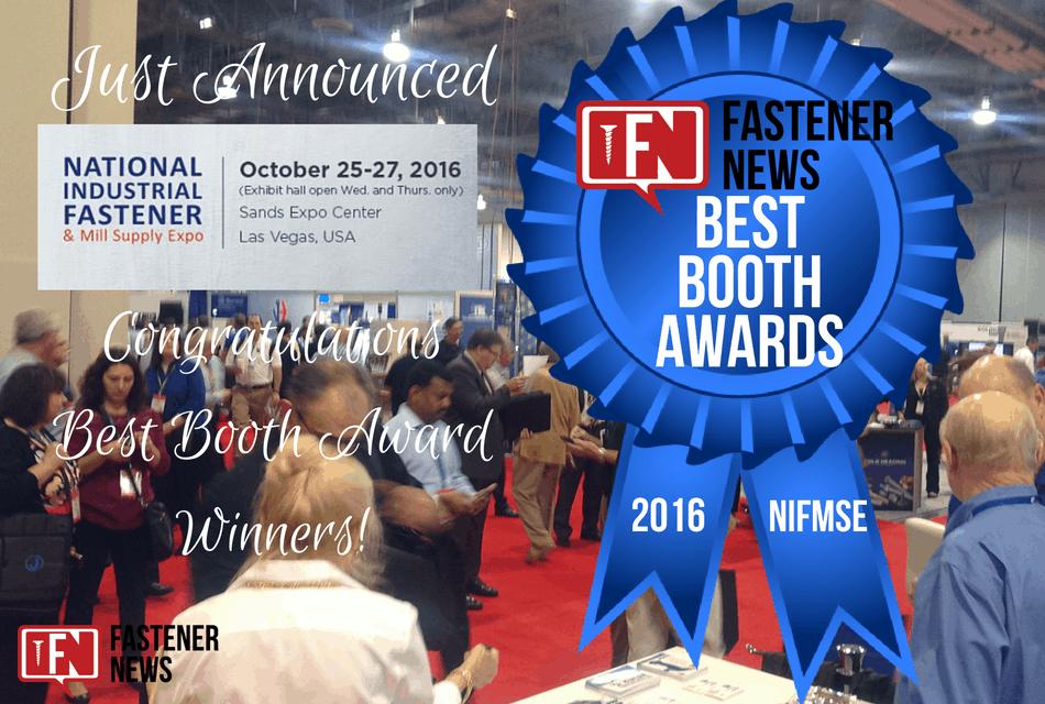 Fastener News Desk: 2016 Fastener Show Best Booth Awards