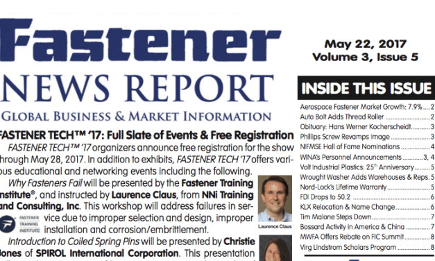 Fastener News Report, May Edition