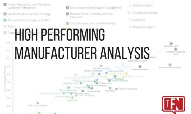 High Performing Manufacturer Analysis