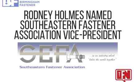 Rodney Holmes Named Southeastern Fastener Association Vice-President