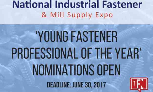 'Young Fastener Professional of the Year' Nominations Open