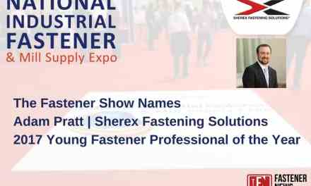 Adam Pratt Named 2017 Young Fastener Professional of the Year by The Fastener Show