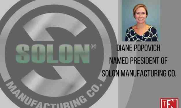 Diane Popovich Named President of Solon Manufacturing Company
