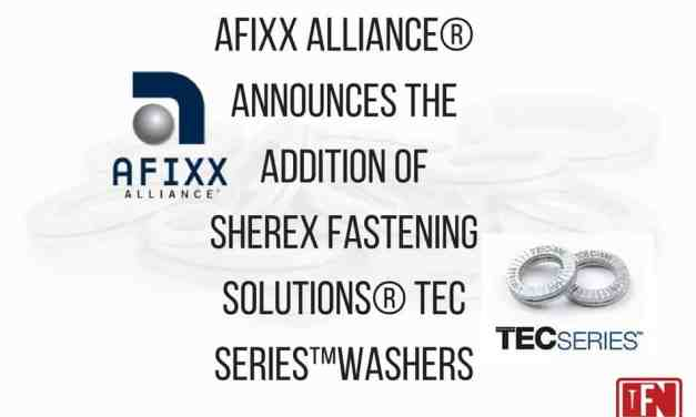 AFIXX Alliance® announces the addition of Sherex Fastening Solutions® TEC Series™Washers