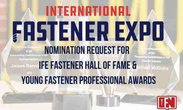 Nomination Request for the IFE Hall of Fame & Young Fastener Professional Awards (Extended)