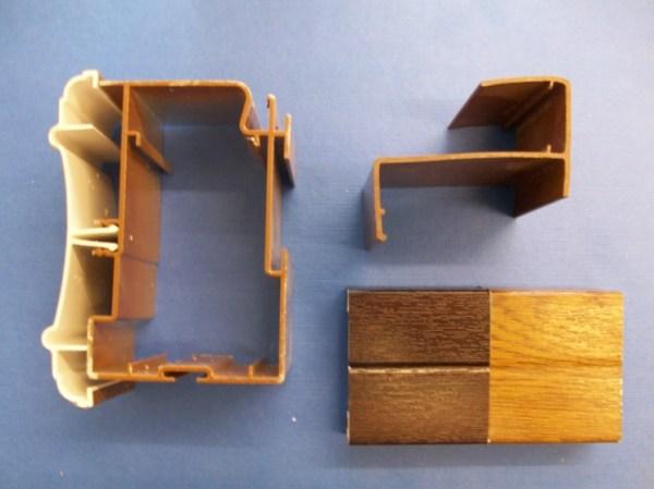 25mm Poly Eaves Beam (Woodgrain)   Conservatory Roof Bars   Conservatory Bars   PVC Bars   Faster Plastics