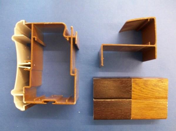 35mm Poly Eaves Beam (Woodgrain)   Conservatory Roof Bars   Conservatory Bars   PVC Bars   Faster Plastics