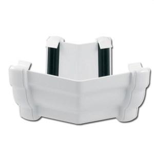 Ogee Gutter Angle Ext 135 Deg (White) | Guttering | PVC Gutter | PVC Rainwater Goods | Faster Plastics
