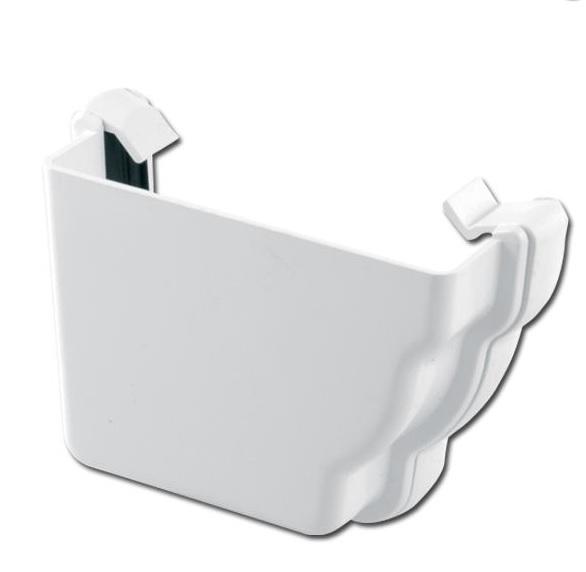 Ogee Gutter Stop End Ext LH (White)   Guttering   PVC Gutter   PVC Rainwater Goods   Faster Plastics