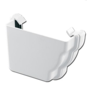 Ogee Gutter Stop End Ext LH (White) | Guttering | PVC Gutter | PVC Rainwater Goods | Faster Plastics