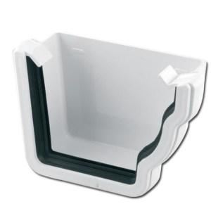 Ogee Gutter Stop End Ext RH (White) | Guttering | PVC Gutter | PVC Rainwater Goods | Faster Plastics