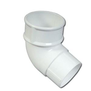 Round Downpipe Offset Bend 112 Deg (White) | Guttering | PVC Gutter | PVC Rainwater Goods | Faster Plastics