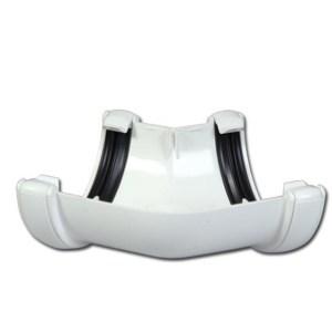 Half-Round Gutter Angle 135 Deg (White) | Guttering | PVC Gutter | PVC Rainwater Goods | Faster Plastics