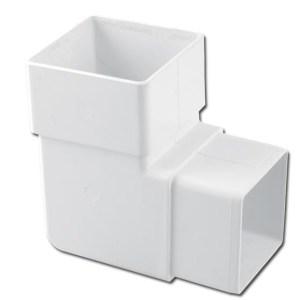 Square Downpipe Offset Bend 90 Deg (White) | Guttering | PVC Gutter | PVC Rainwater Goods | Faster Plastics