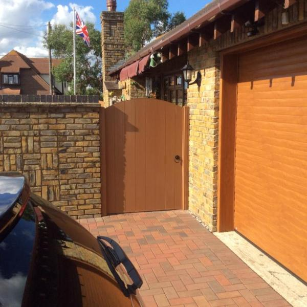 PVC Gate | Plastic Gate | Golden Oak PVC Gate | Faster Plastics