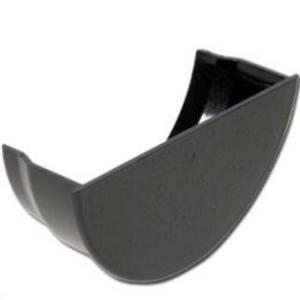 Cast Iron Effect Gutter | Half-Round Gutter Stop End Int | PVC Gutter | Faster Plastics