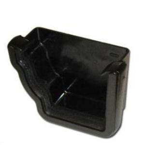 Cast Iron Effect Gutter   Ogee Gutter Stop End Ext RH   PVC Gutter   Faster Plastics