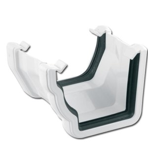 OgeeSquare Gutter Adptr LH (White) | Guttering | PVC Gutter | PVC Rainwater Goods | Faster Plastics