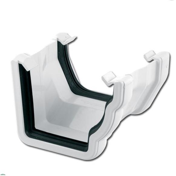 OgeeSquare Gutter Adptr RH (White)   Guttering   PVC Gutter   PVC Rainwater Goods   Faster Plastics