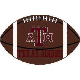 logo rugs a m university a m football 3 x 6 tamfb2