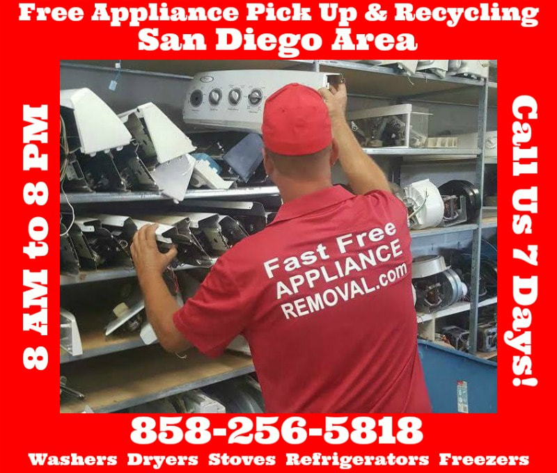 free appliances pick up recycle washers