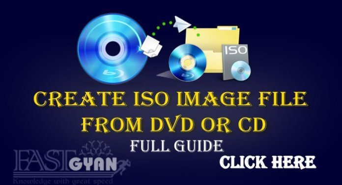 Create ISO Image File From DVD or CD