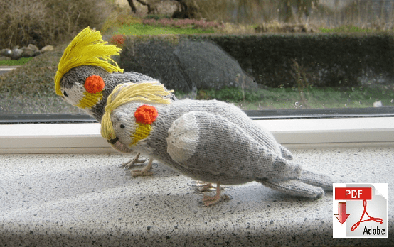 strikket nymfeparakit