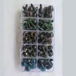100stk  8mm Farvede Plastic Sikkerhedsøjne