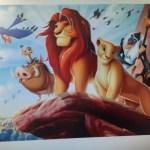 FULD 5D DIY Diamond kit tegneserie billede, løvernes konge, runde Diamond Broderi mosaik mønster