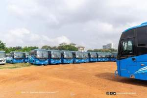 Minister for Education hands over 120 Buses to SHSs 1