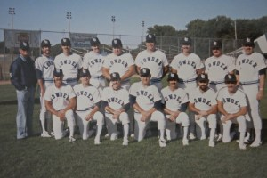 """1984 Lowder Electric, Bakersfield, CA, Runner-up ASA """"A"""" Nationals. (Editor, back row, third player from left, click to enlarge)"""