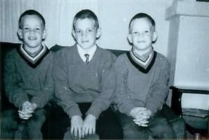 The Flanagan boys, Bob, Jim and Rick, 1964