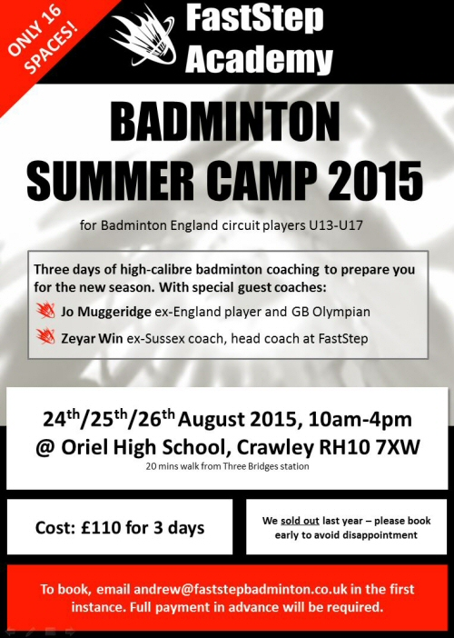Badminton Summer Camp 2015