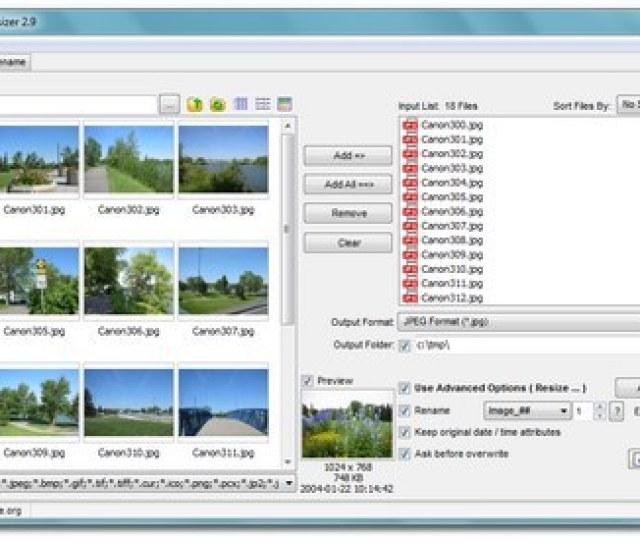 Faststone Photo Resizer Powerful Image Converter Resizer
