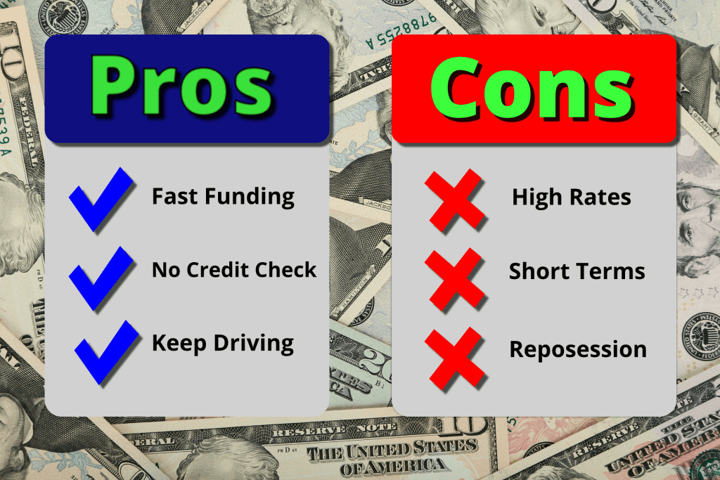 List of Title Loan Pros and Cons