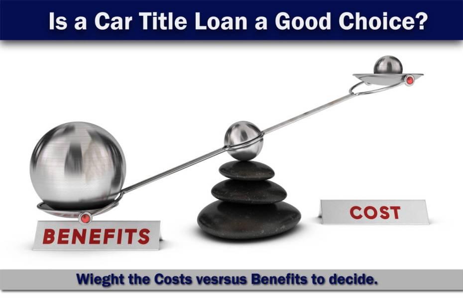 Car Title Loan costs versus benefits