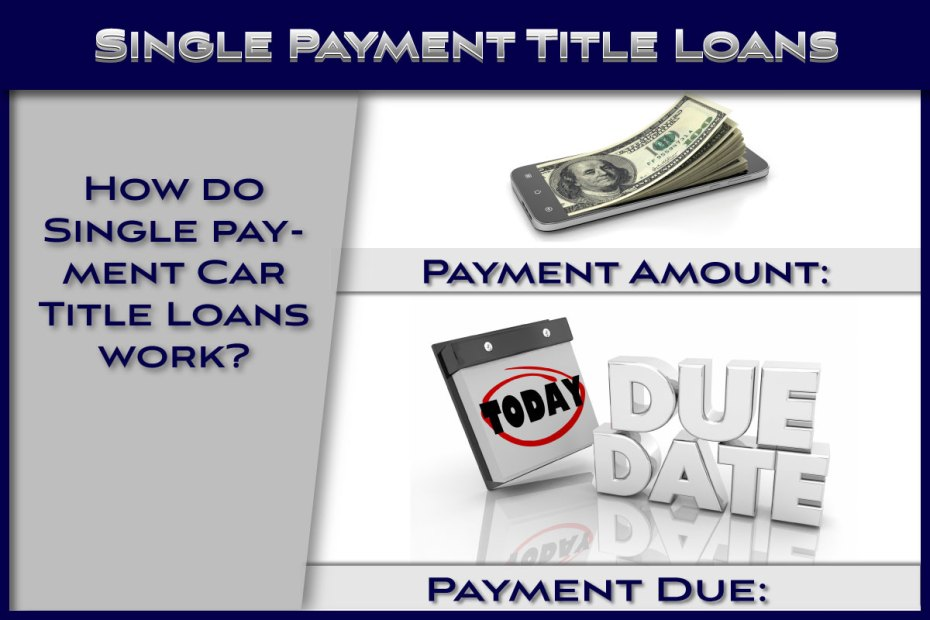 How Single Payment Title Loans Work