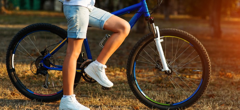 teen with a bike