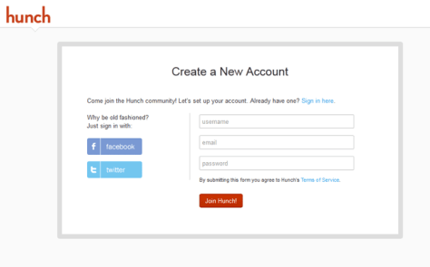 Make the signup process as minimalistic as possible