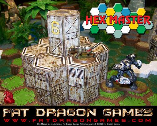 Fat Dragon Games releases HEXMASTER SET 2 SciFi Terrain for