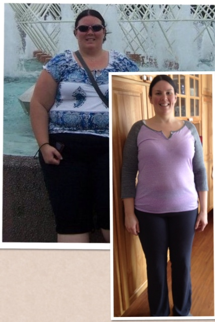 Karen. She's lost 120lbs (go girl!) and loves her body even though it isn't perfect. Girl after my own heart!