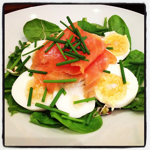 Smoked Salmon, Boiled Egg & Chives
